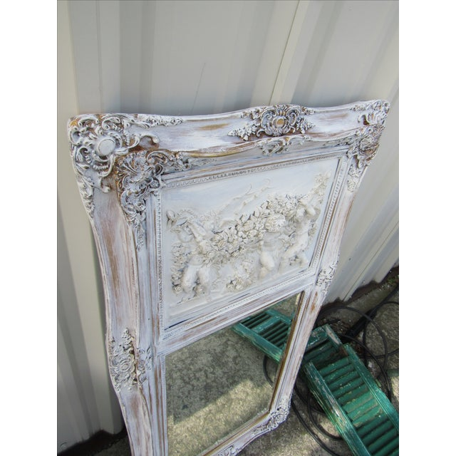 Image of French Style Putti Trumeau Mirror