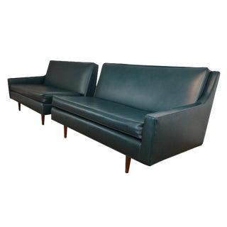 Milo Baughman Two Piece Mid Century Sofa
