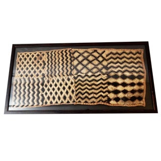 Vintage Framed Velvet Kuba Cloth