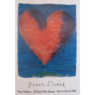 1981 Original American Exhibition Poster, Jim Dine