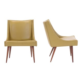 Pair of Milo Baughman for Thayer Coggin Slipper Chairs