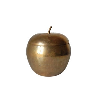 Vintage Brass Apple Shape Container
