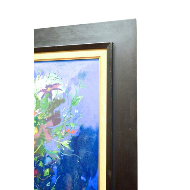 Bouquet Framed Pastel Painting by Leon Kelly - Image 3 of 8