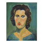 Mid-Century Lady w/ Red Lips Portrait
