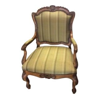 Louis XV Shell Back Light Green Chair