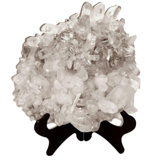 Large Quartz Crystal Cluster with Stand