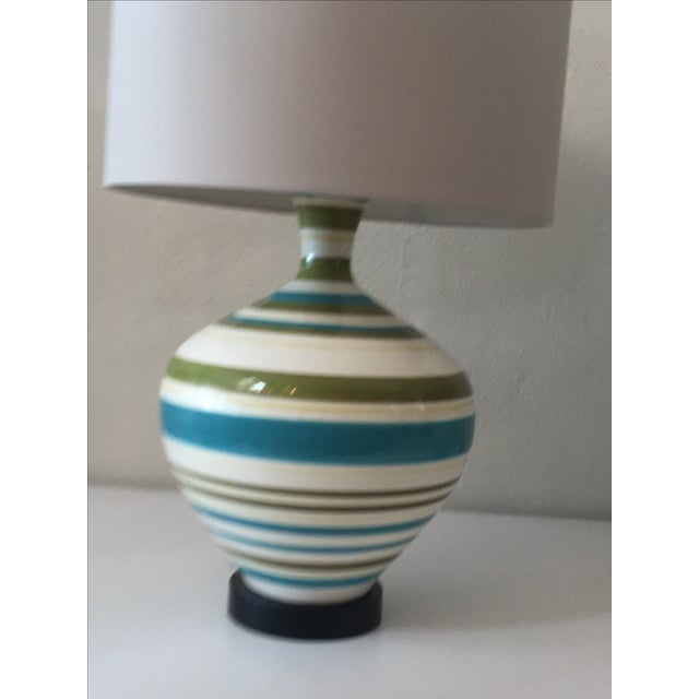 Mid-Century Hand Painted Lamps - A Pair - Image 5 of 5