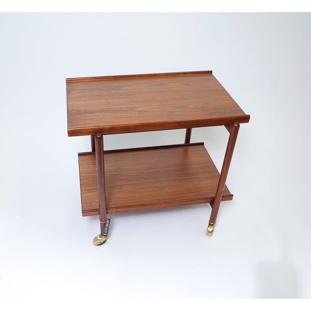 Poul Hundevad Danish Modern Teak Bar Cart - Image 2 of 6