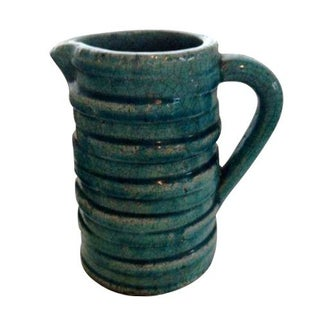 Turquoise Mid-Century Pitcher Vase
