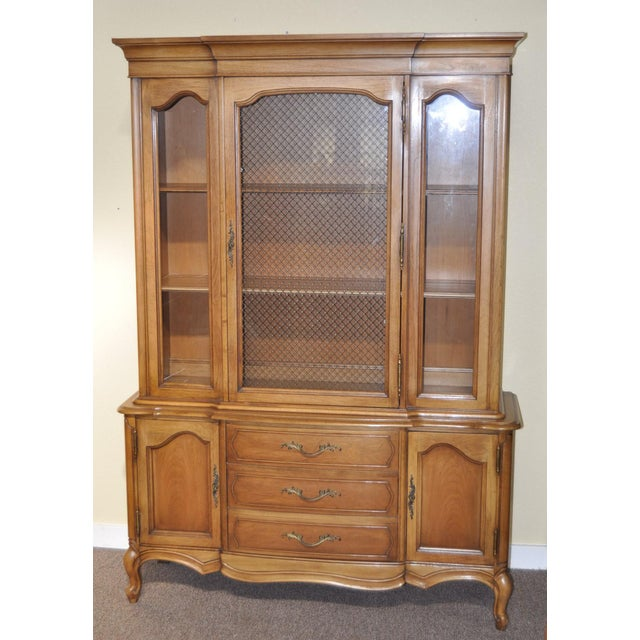 French Provincial Walnut Cabinet - Image 8 of 8