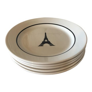 Restaurant Ware Eiffel Tower Plates- Set of 5