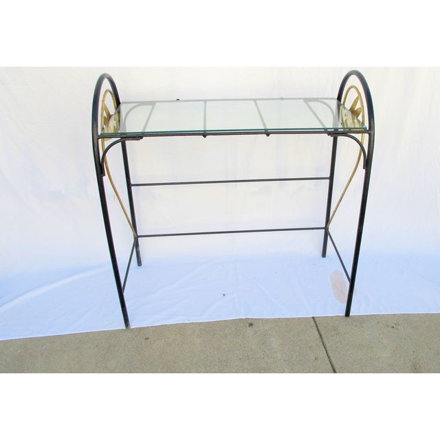 Art Deco Wrought Iron Console - Image 2 of 5