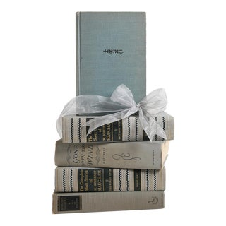 Vintage Book Gift Set: World Classics in Grey, S/5