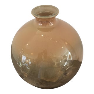 Contemporary Amber Glass Vase