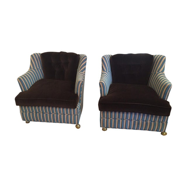 Vintage Reupholstered Club Chairs - A Pair - Image 1 of 9