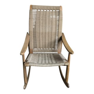 Hans Wenger Inspired Vintage Rocking Chair