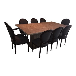 Solid Marble Dining Set
