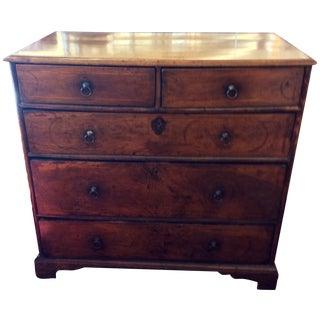 Antique William & Mary Period Inlaid Wood Chest