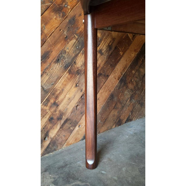 Mid-Century Solid Rose Wood Dining Table - Image 6 of 6