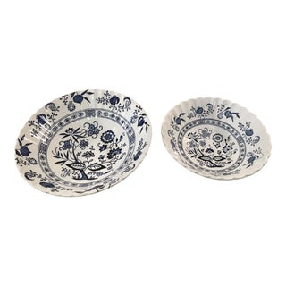Blue Nordic Serving Bowls - A Pair