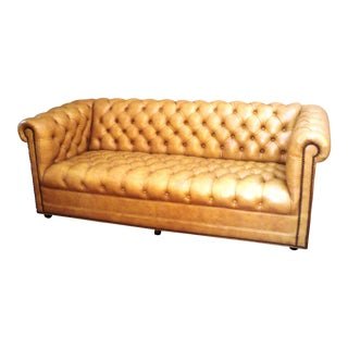 Leathercraft Golden Tan Chesterfield Sofa