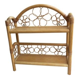 Vintage Boho Bamboo Wood Shelf