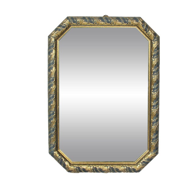1970s Vintage Black & Gold Octagonal Hall Mirror - Image 1 of 3