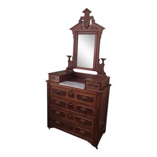 Walnut Victorian Style Dresser