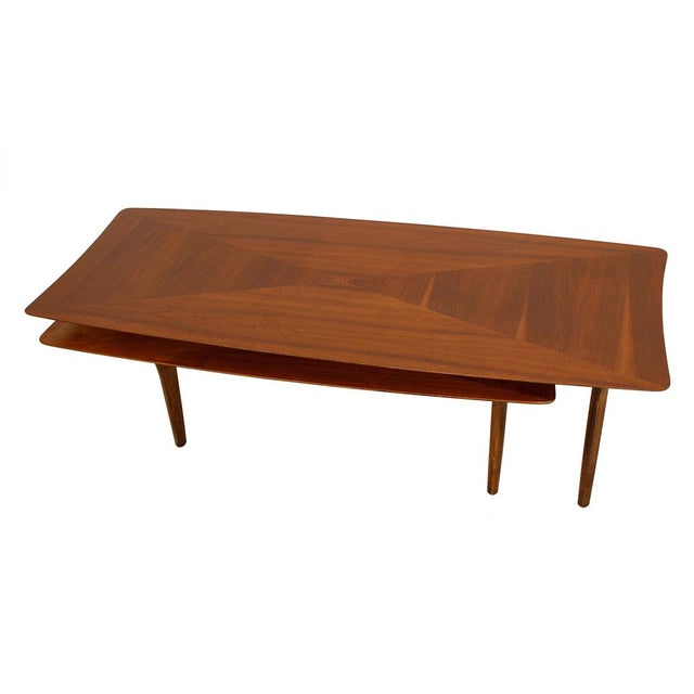Mid Century Expanding Walnut Coffee Table Chairish