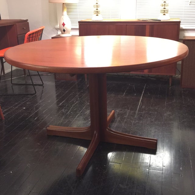 Solid Teak Table With 2 Leaves by J. O. Carlsson - Image 2 of 10