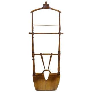 Italian Wood Valet Stand