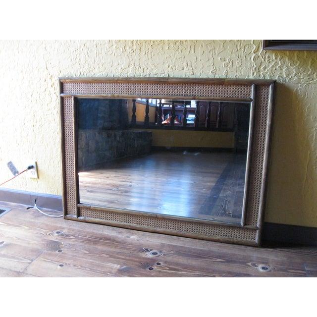 Image of McGuire Vintage Rattan Mirror
