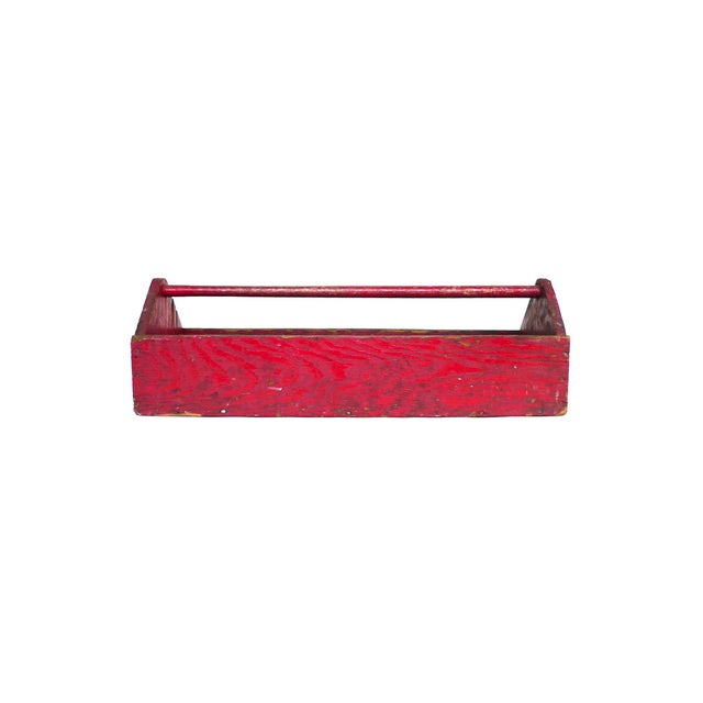 Early 20th Century Red Tool & Blade Box - Image 1 of 4