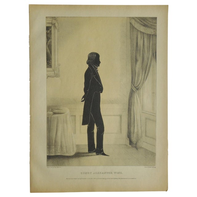 Antique Folio Size Silhouette Lithograph - Image 1 of 3