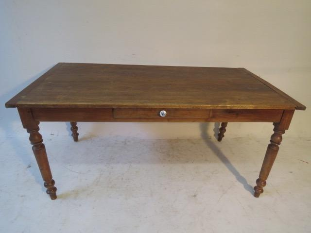 Farmhouse Kitchen Table With Drawers: French Farm Dining Table With Drawer