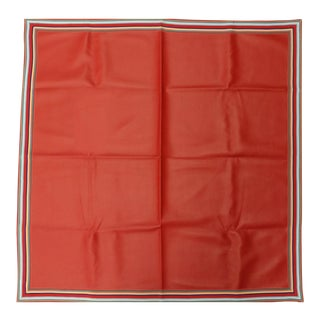 Red Vinyl Table Cover With Multicolor Grosgrain Border