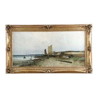 C. 1884 Eduard Fischer Seascape Painting