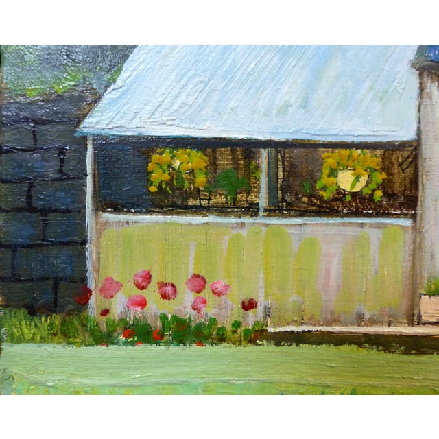 Robert Blanchard Mid-Century Cottage Oil Painting - Image 3 of 9