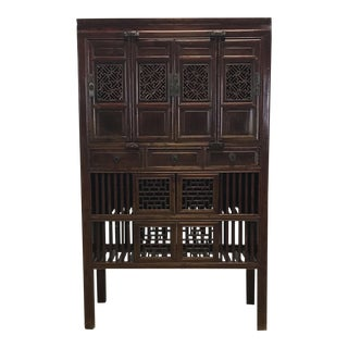 Asian Carved Cabinet Armoire