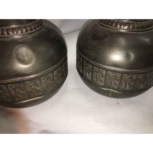 Image of Vintage Tiel Copper Vases - A Pair