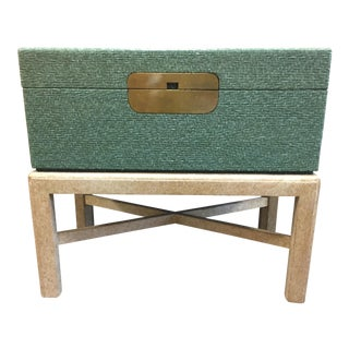 Vintage Green Trunk on Stand