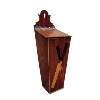 A Charming English Late Regency Walnut Cutlery Box