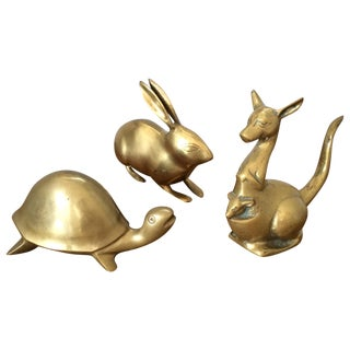 Brass Menagerie of Animals - Set of 3