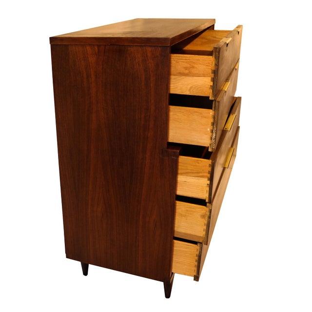 Mid century Kent Coffey Walnut Tall Dresser - Image 9 of 10