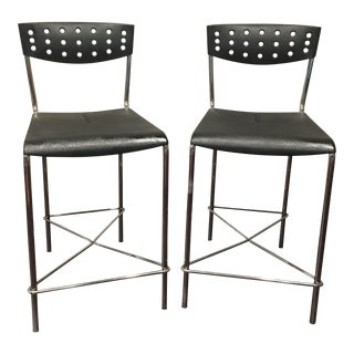 Umberto Bertoni for Beta Casa Bar Stools - A Pair