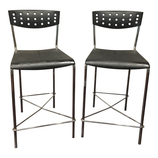 Image of Umberto Bertoni for Beta Casa Bar Stools - A Pair