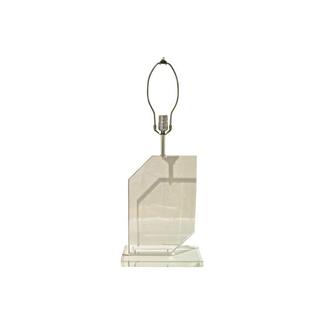 1970s Springer Style Lucite Lamp - Image 6 of 7
