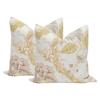 "22"" Floral Print Pillows - a Pair"