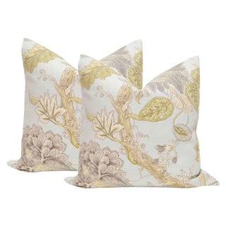 """22"""" Floral Print Pillows - a Pair"""