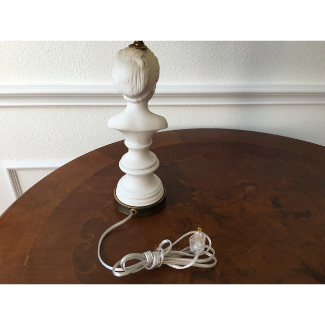 Image of 1940's Porcelain Bust Lamp W/Shade